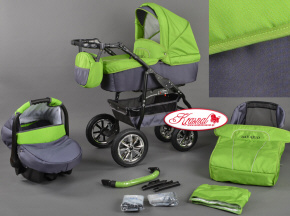 BAVARIO Kinderwagen multifunctional POLEN